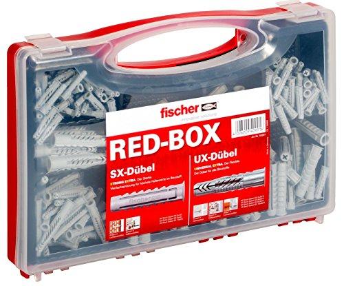 Fischer Sortimentsbox RED-Box mit Universaldübel UX und Spreizdübel SX (290 Teile)