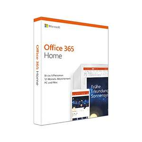 Microsoft Office 365 Home multilingual | 6 Nutzer | 1 Jahr