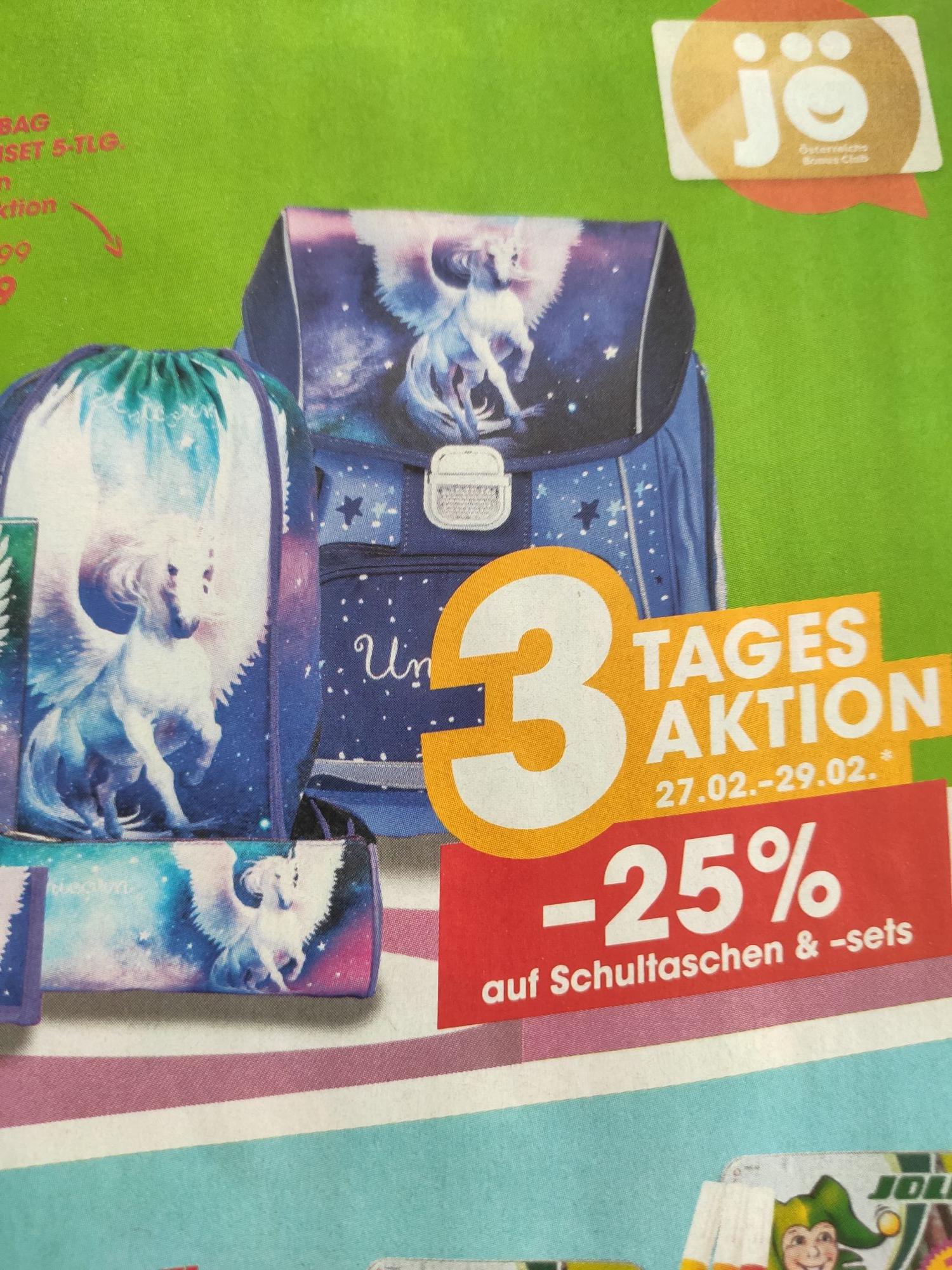-25% auf Schultaschen + Schultaschensets