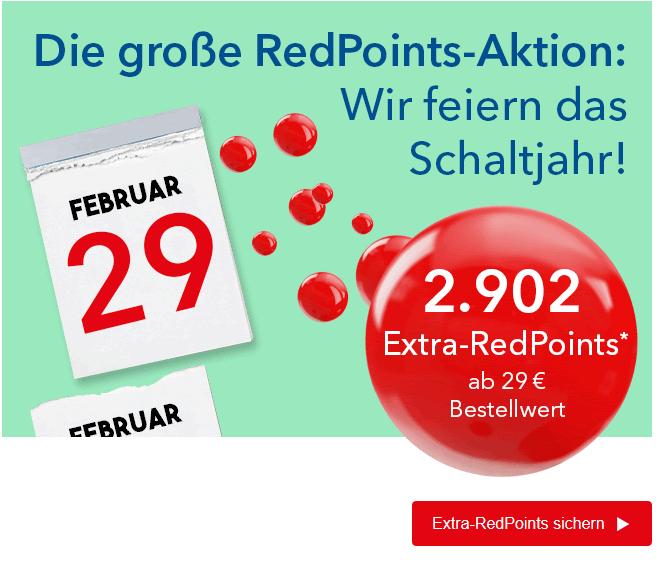 Shop-Apotheke Redpoints: 2902 Extra-Punkte (2,90€) auf nächste Bestellung ab 29€, Geburtstagkinder 2*2902 Punkte