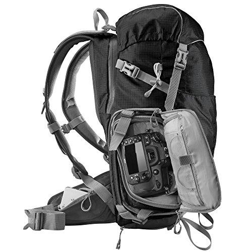 Mantona Elements Outdoor Rucksack (inkl. Regenschutzhülle, Laptop/Tabletfach, herausnehmbarer Kameratasche)