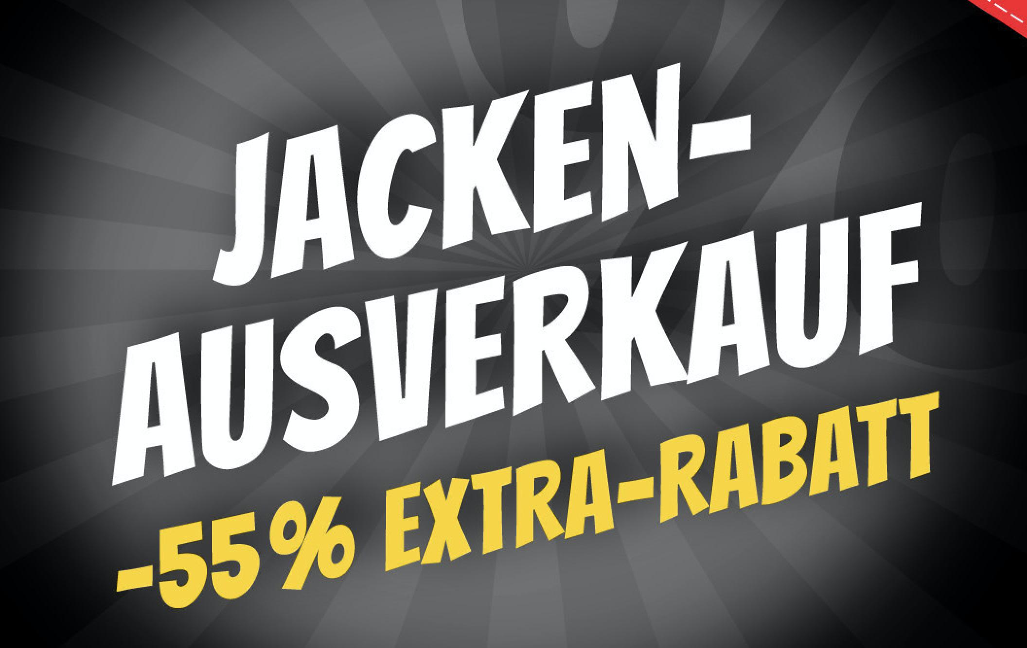 Sportspar: Jacken-Ausverkauf mit 55% Extra Rabatt auf bereits Reduzierte Artikel
