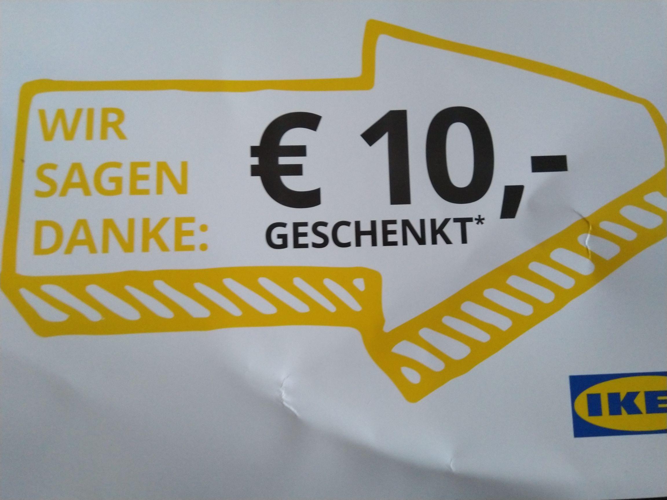 Ikea 10€ Gutschein nur für Stores (in Paket vom Onlineshop)