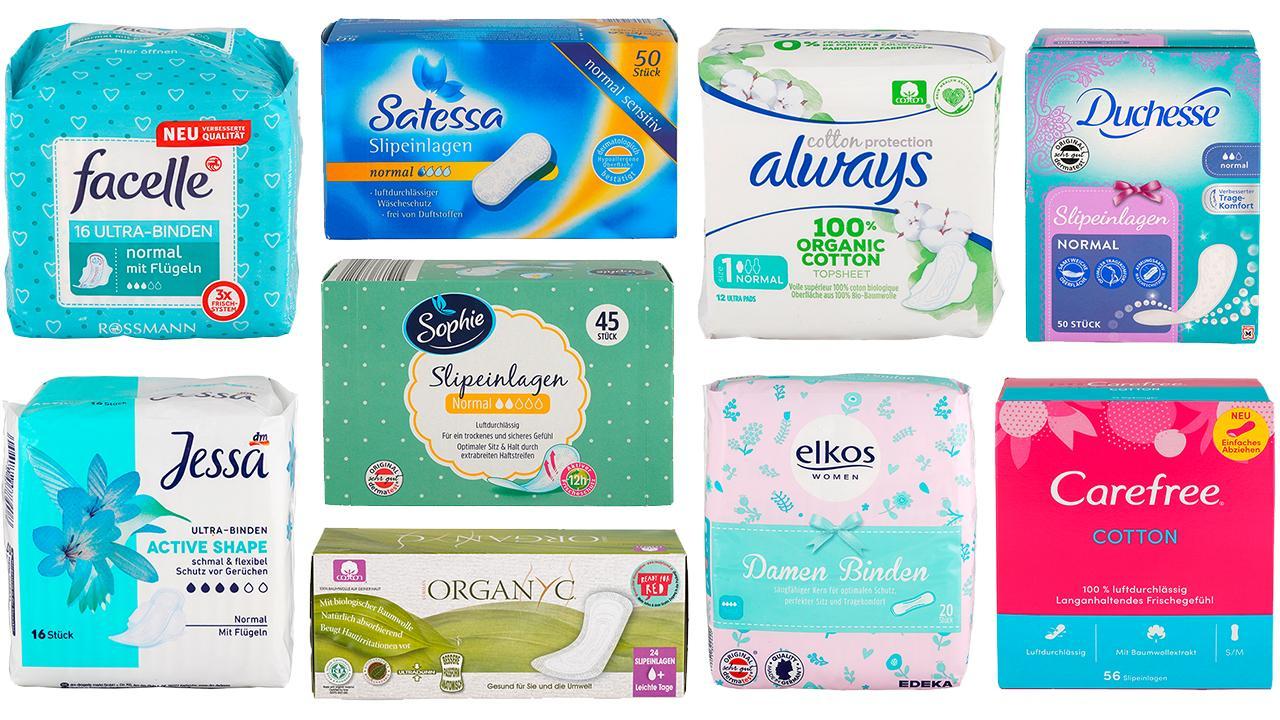 Ökotest - Menstruation: Diese Binden und Slipeinlagen sind empfehlenswert (50 getestete Produkte)