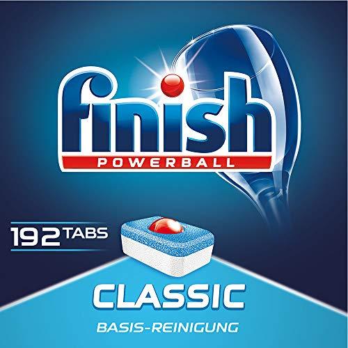 Finish Classic Spülmaschinentabs mit Powerball im Gigapack mit 192 Finish Tabs Bestpreis!* (PVG regulär 19,18€!)