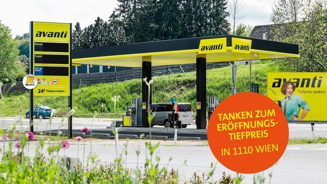 Eröffnungsaktion - Verbilligte Tankpreise Avanti Jedletzbergerstraße im 11. Bezirk (Nähe Huma/Simmeringer Haide Ausfahrt A4)