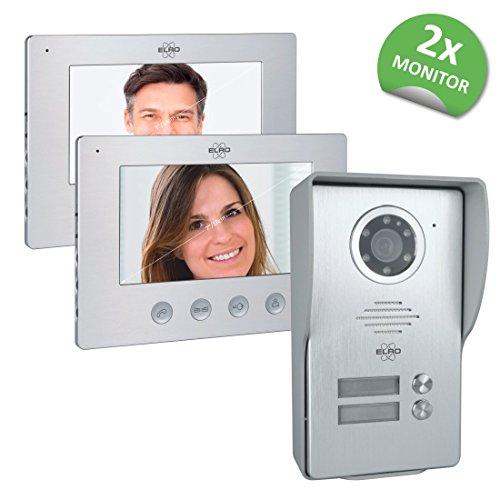 Elro 2-Familien Video Türsprechanlage mit 2x 18cm Bildschirm (DV477W2)