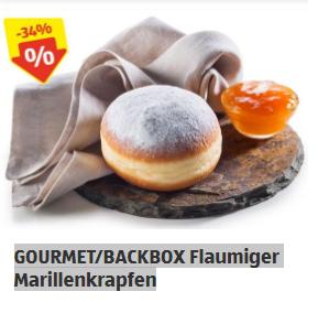 Krapfen 0,39 cent, Krustenbrot 1,09 euro, etc.