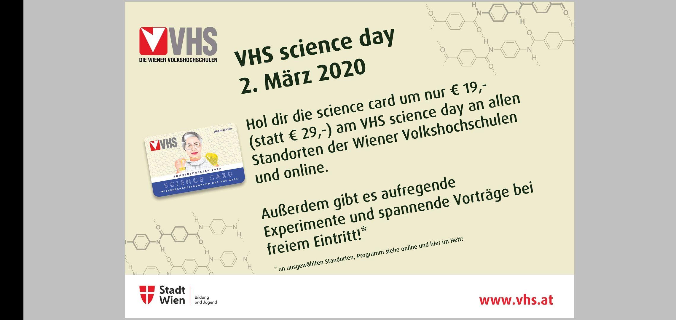 VHS Science Card & gratis Vorträge