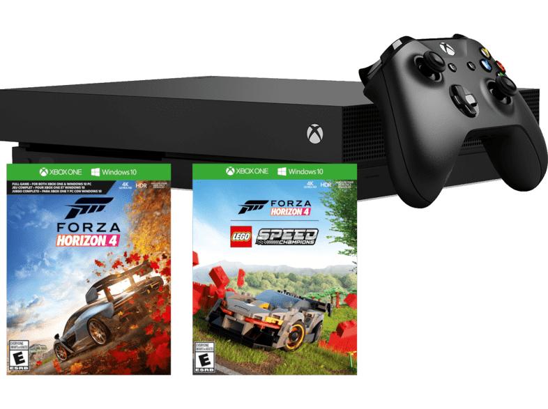 MICROSOFT XBox One X Bundle 1TB schwarz inkl. Forza Horizon 4 LEGO Speed Champions Bundle