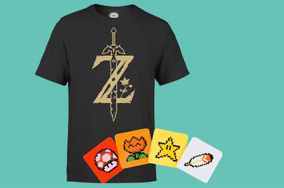 Nintendo Shirt und Untersetzer um 12,48 Euro