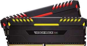 Corsair Vengeance RGB schwarz DIMM Kit 16GB, DDR4-2666, CL16-18-18-35