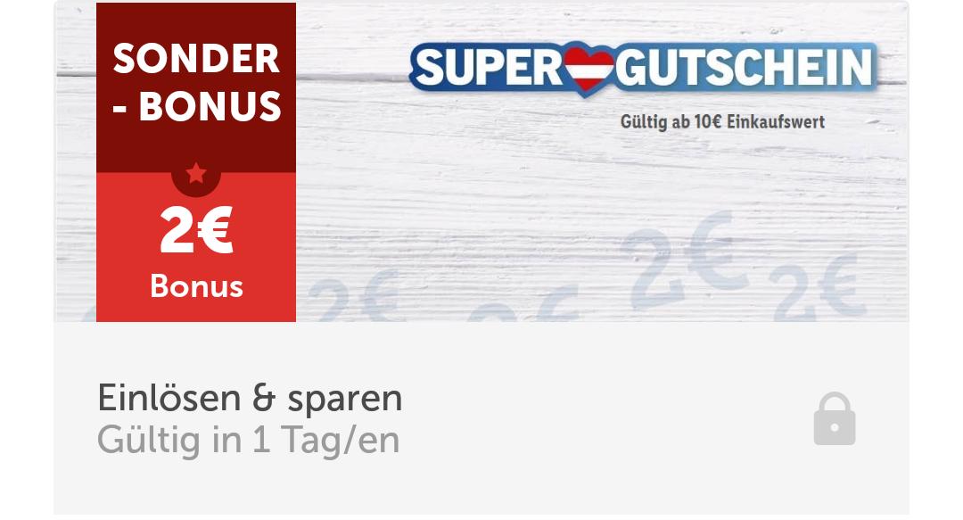 Lidl App - 2 Euro Gutschein ab 10 Euro Einkaufswert