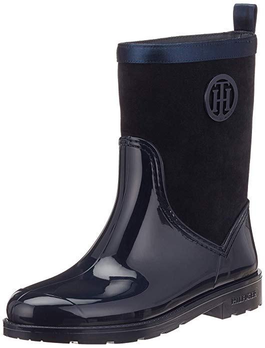 Tommy Hilfiger Damen Warmlined Suede Rain Boot Gummistiefel