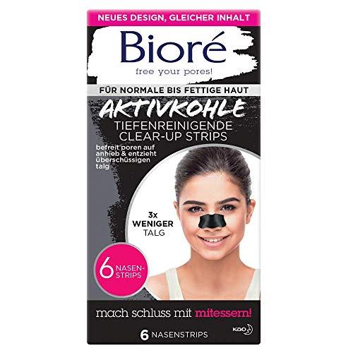 2 x Bioré 6 Tiefenreinigende Aktivkohle Clear-Up-Strips Nasenstrips (Anleitung bitte lesen)