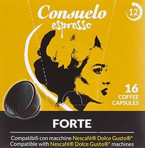 2x 16 Consuelo Dolce Gusto kompatible Kapseln – Forte