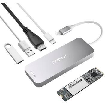 Minix NEO-S1GR 120GB SSD USB-C Hub - Grau