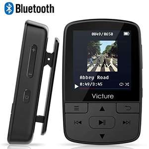 Victure Bluetooth MP3 Player 8GB Mini Sport Musik Player mit Clip