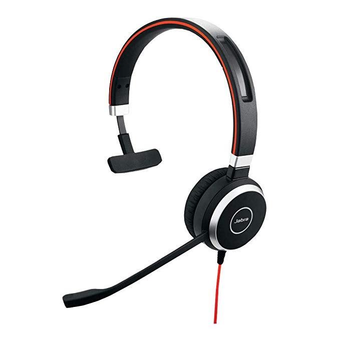 Jabra Evolve 40 MS Mono-Kabel-Headset mit USB und Klinkenstecker