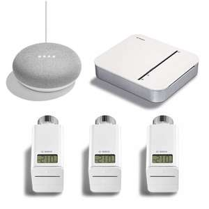 Bosch Smart Home - Starter Set Heizung + gratis Google Home Mini