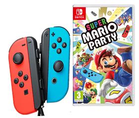 NINTENDO Joy-Con 2er-Set (rot-blau) + Super Mario Party