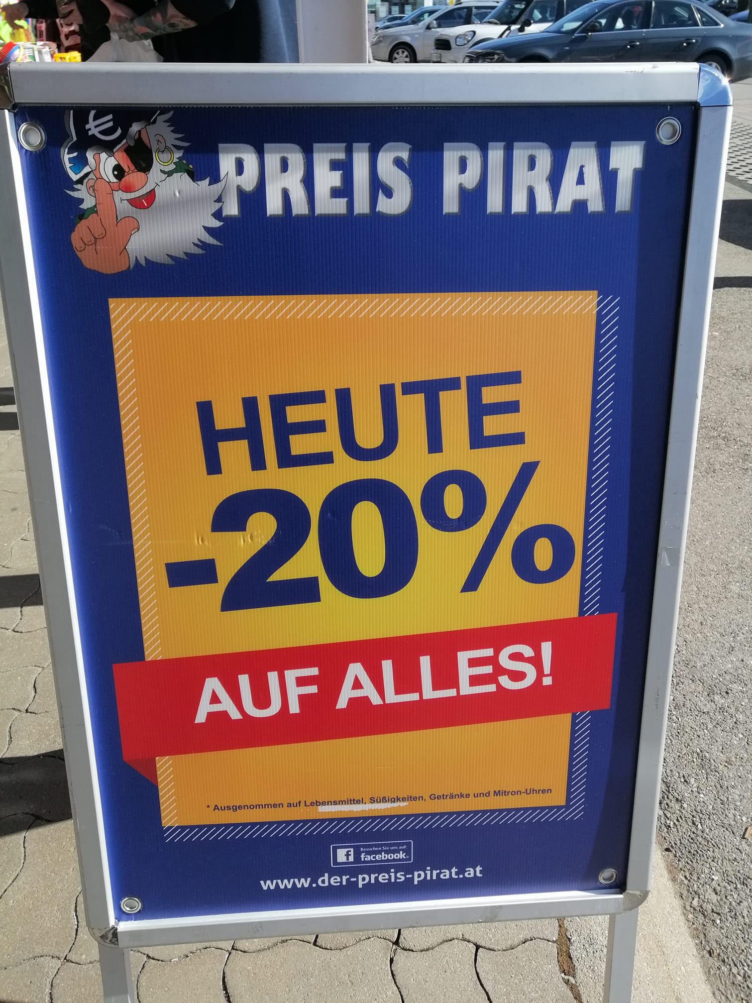 [Lokal Deutschlandsberg] -20% auf fast alles beim Preis Pirat