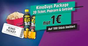 Kino Day Package (Kinoticket + Popcorn + Eistee)