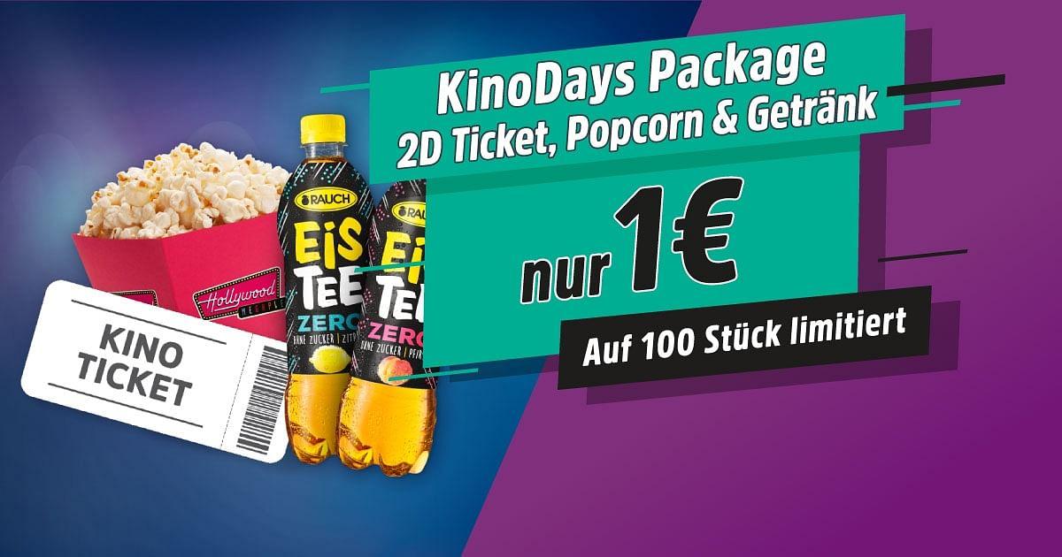 Kino Day Package (Kinoticket + Popcorn + Eistee)