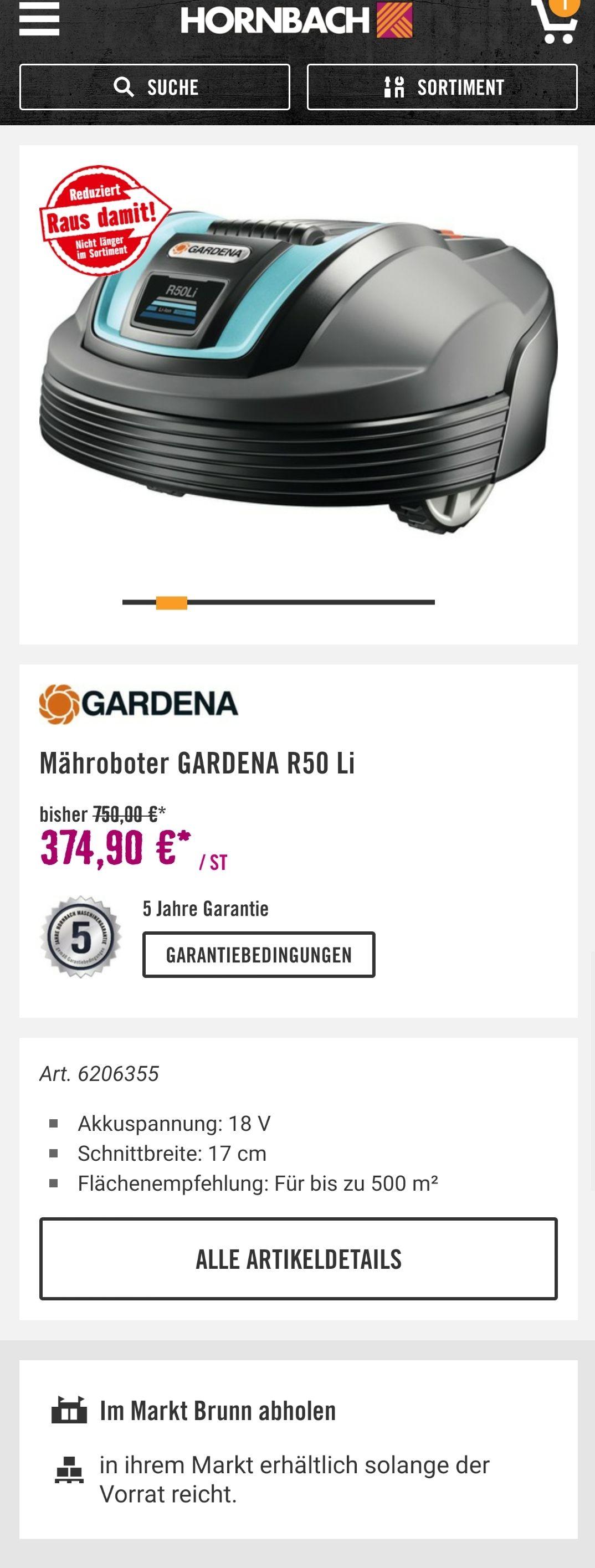 *LOKAL* Gardena R50Li abverkauf Hornbach Brunn am gebirge