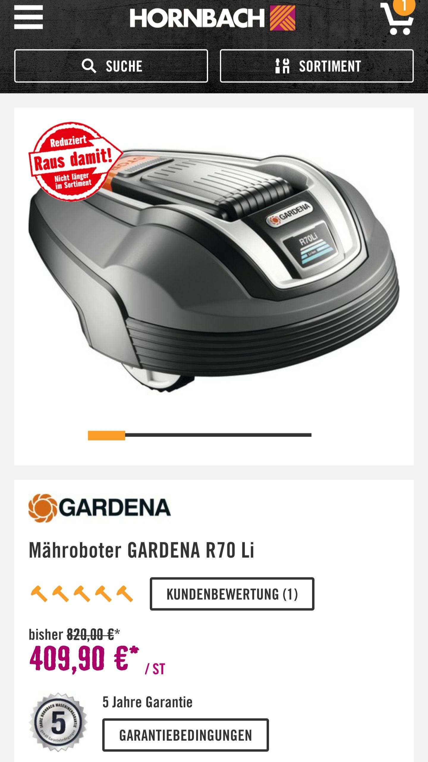 *LOKAL* Gardena R70Li Abverkauf Hornbach Brunn am gebirge