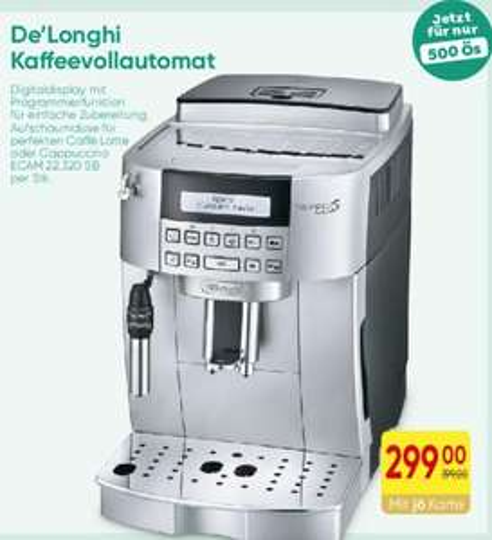 De'Longhi 22.320 B Kaffeevollautomat bei Merkur