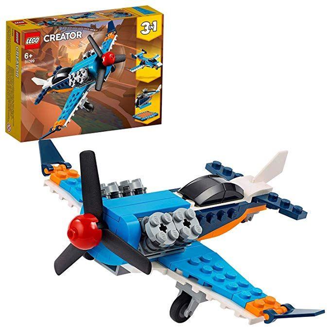LEGO 31099 Creator - 3-in-1 Propellerflugzeug-, Düsenflieger-, Hubschrauber