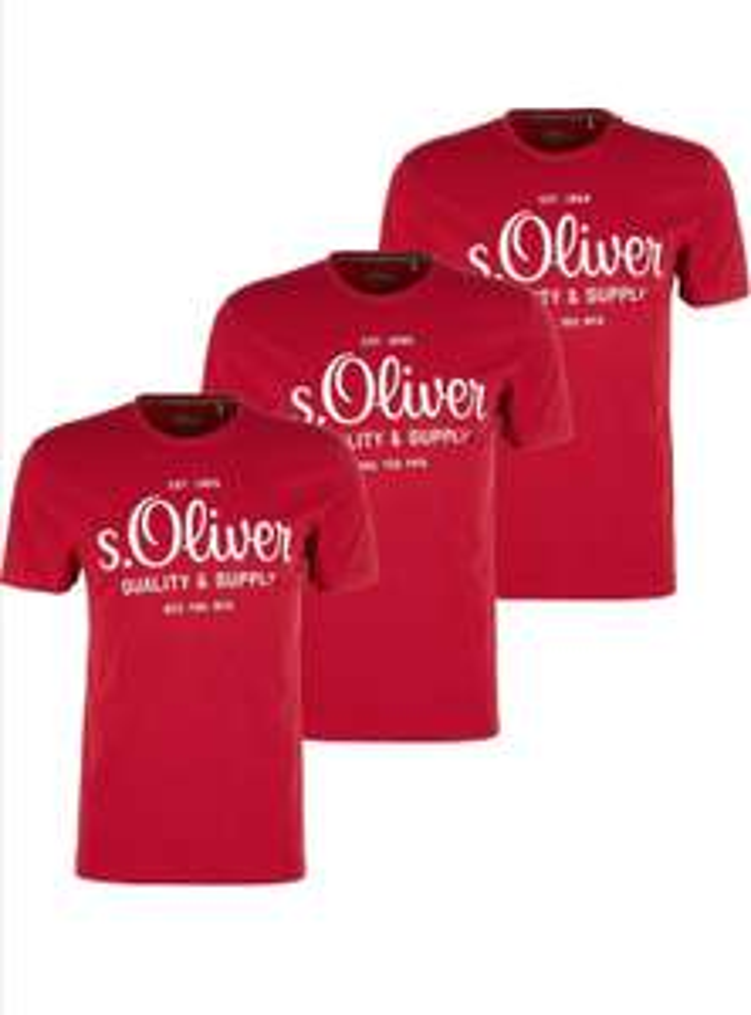 s.Oliver T-Shirt 3x rot gr.M für 13,99€