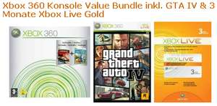 [X360] XBox 360 inkl. GRATIS: GTA IV und 3 Monate Live Gold!