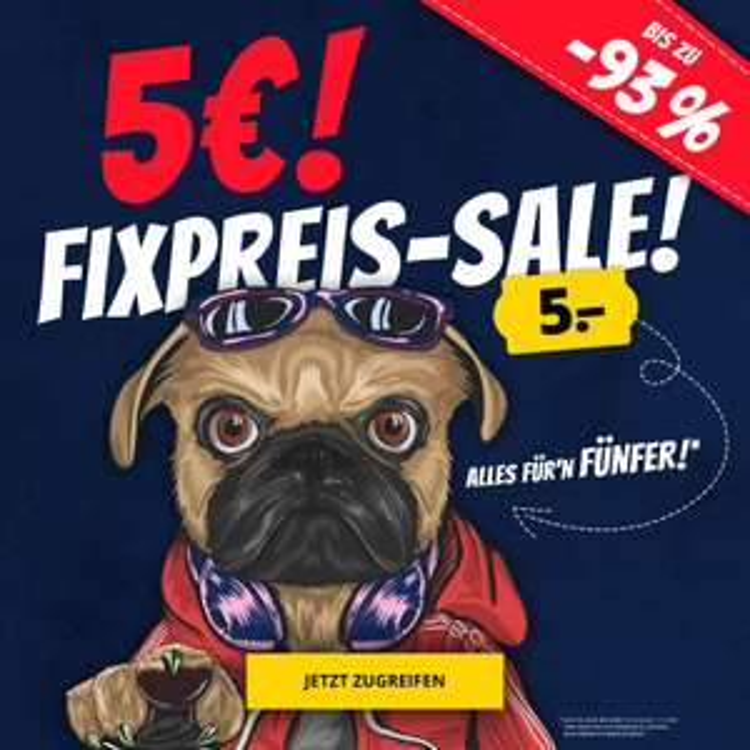 SportSpar Fixpreis Sale, 100 Artikel um je 5€