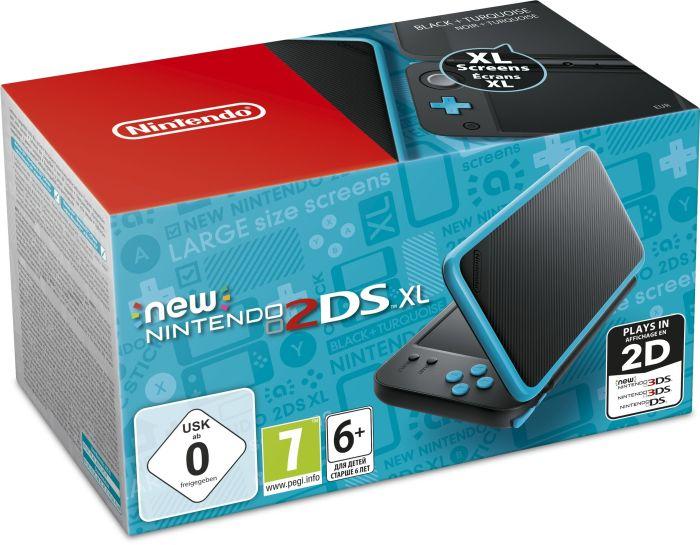 Nintendo 2DS: XL Konsole schwarz/türkis [Lokal Smythtoys Haid] - Bestpreis