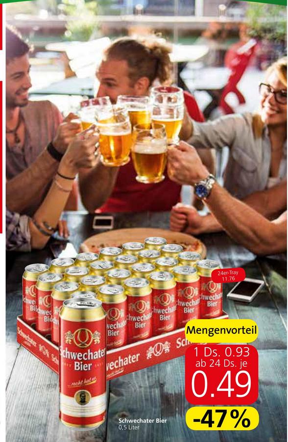 24x Schwechater Bier (0,5L-Dosen) im Angebot bei SPAR