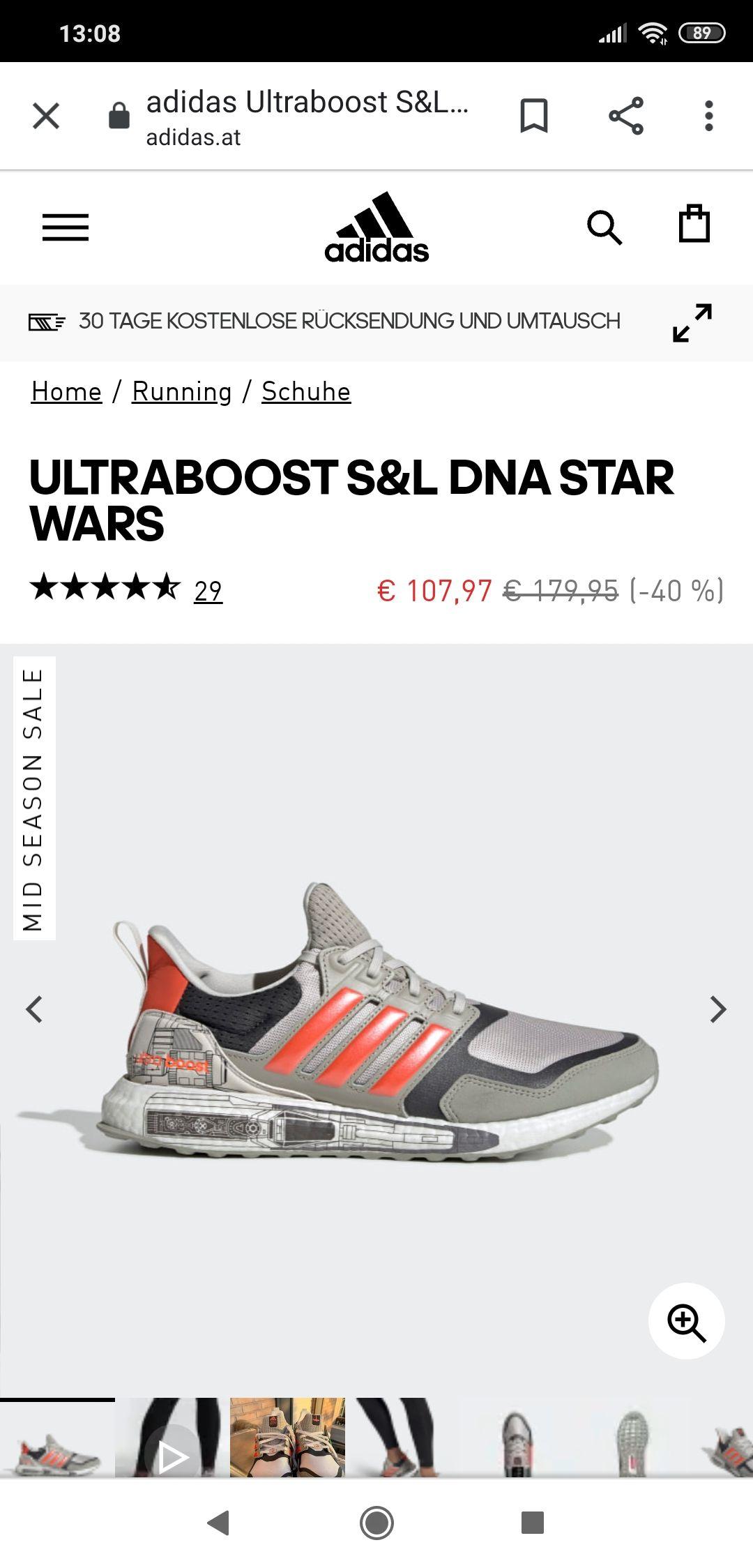 Adidas Ultraboost Star Wars Edition