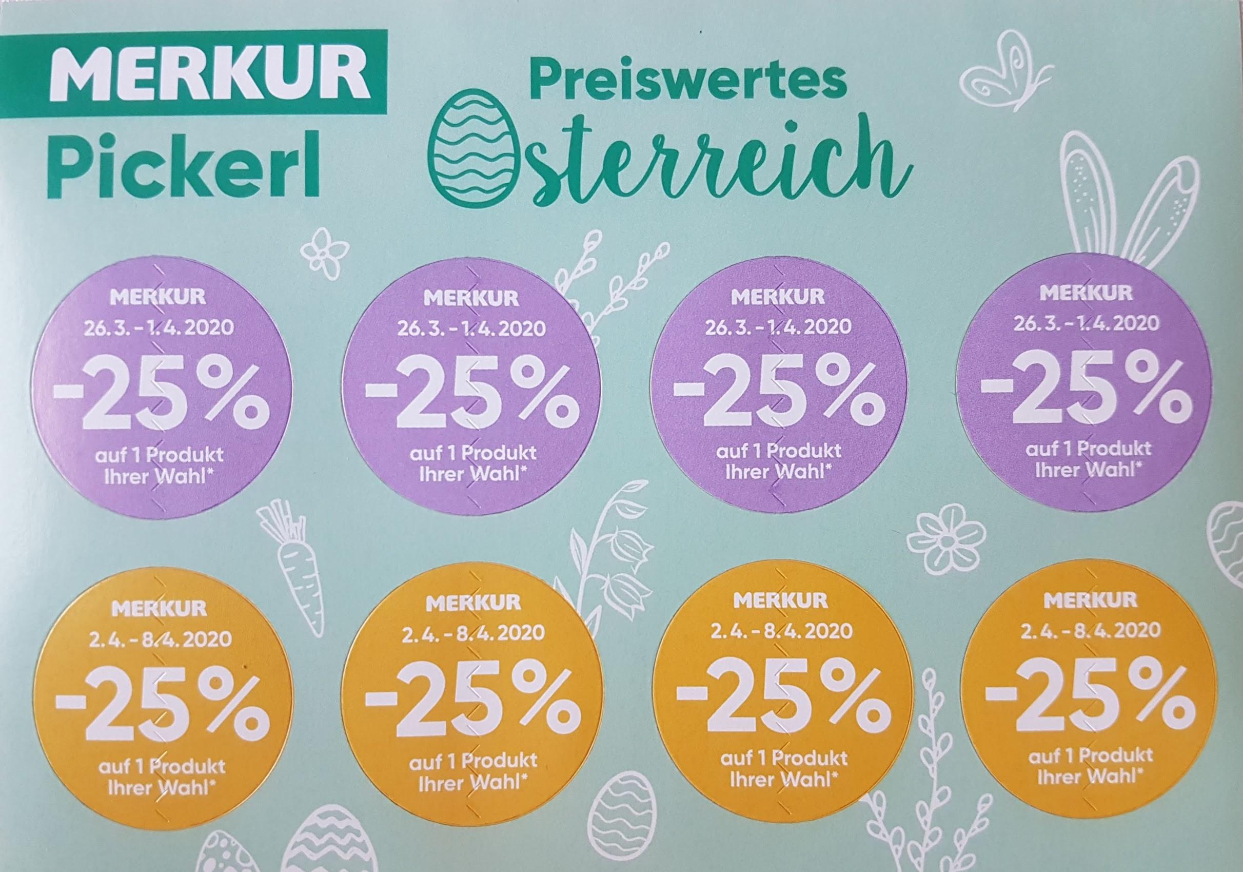 Merkur -25% Pickerl 12.03.20 - 08.04.20 - DIGITALE Pickerl zum Ausdruck!