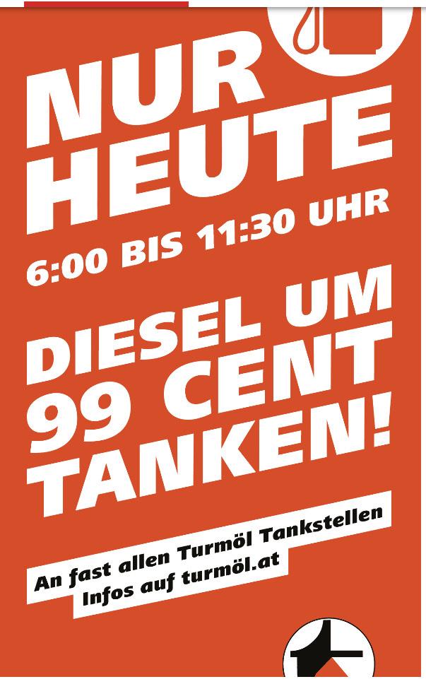 Diesel um 0,99 Euro/Liter # Turmöl#