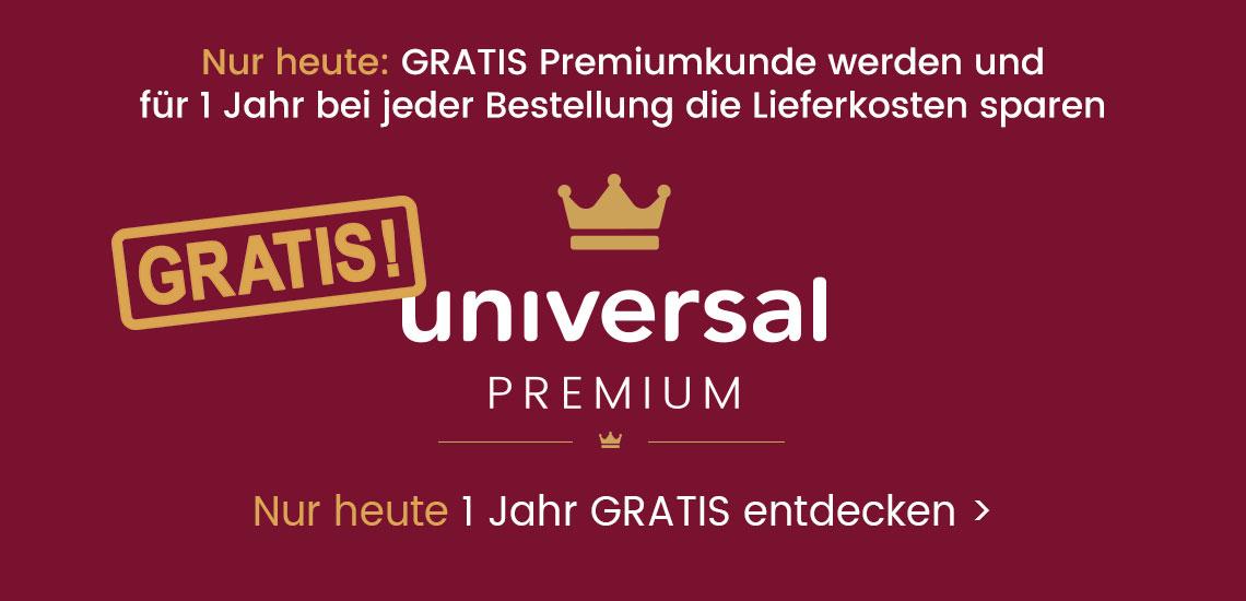 Gratis Universal Premium für ein Jahr: Nur heute