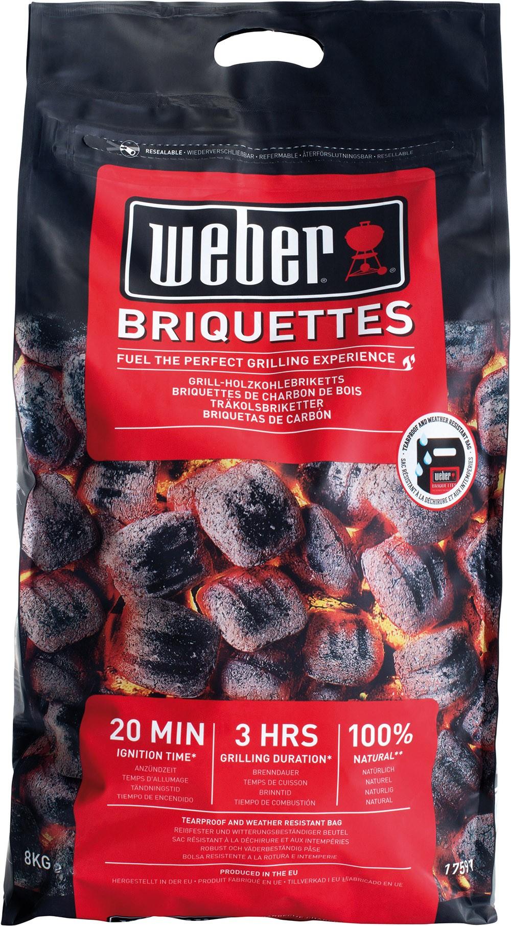 MERKUR: Weber Briketts 8 kg Sack um € 8,99 (mit 25% Pickerl)