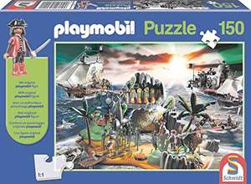 "Preisjäger Junior: Playmobil Puzzle ""Pirateninsel"", 150-teilig inkl. Playmobil Figur"