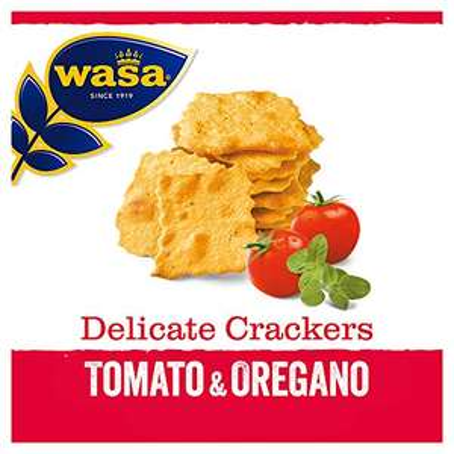 5x Wasa Knäckebrot Delicate Cracker Tomate und Oregano