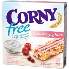 10 Packungen CORNY free Kirsche-Joghurt, Müsliriegel OHNE Zuckerzusatz (60 Riegel)