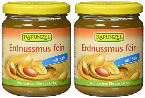 2x 250g Rapunzel Bio Erdnussmus fein mit Salz