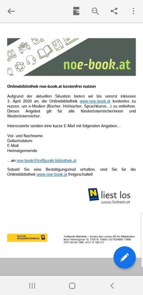 Onlinebibliothek in Niederösterreich kostenlos nutzen