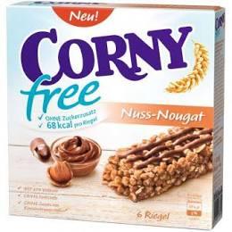 10 Schachteln CORNY free Nuss-Nougat, Müsliriegel OHNE Zuckerzusatz (60 Riegel)