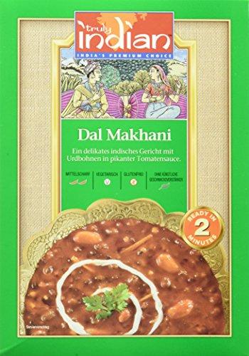 6x TRULY INDIAN Delhi Dal Makhani - Indisches Fertiggericht mit schwarzen Linsen und mittelscharfer Tomatensauce