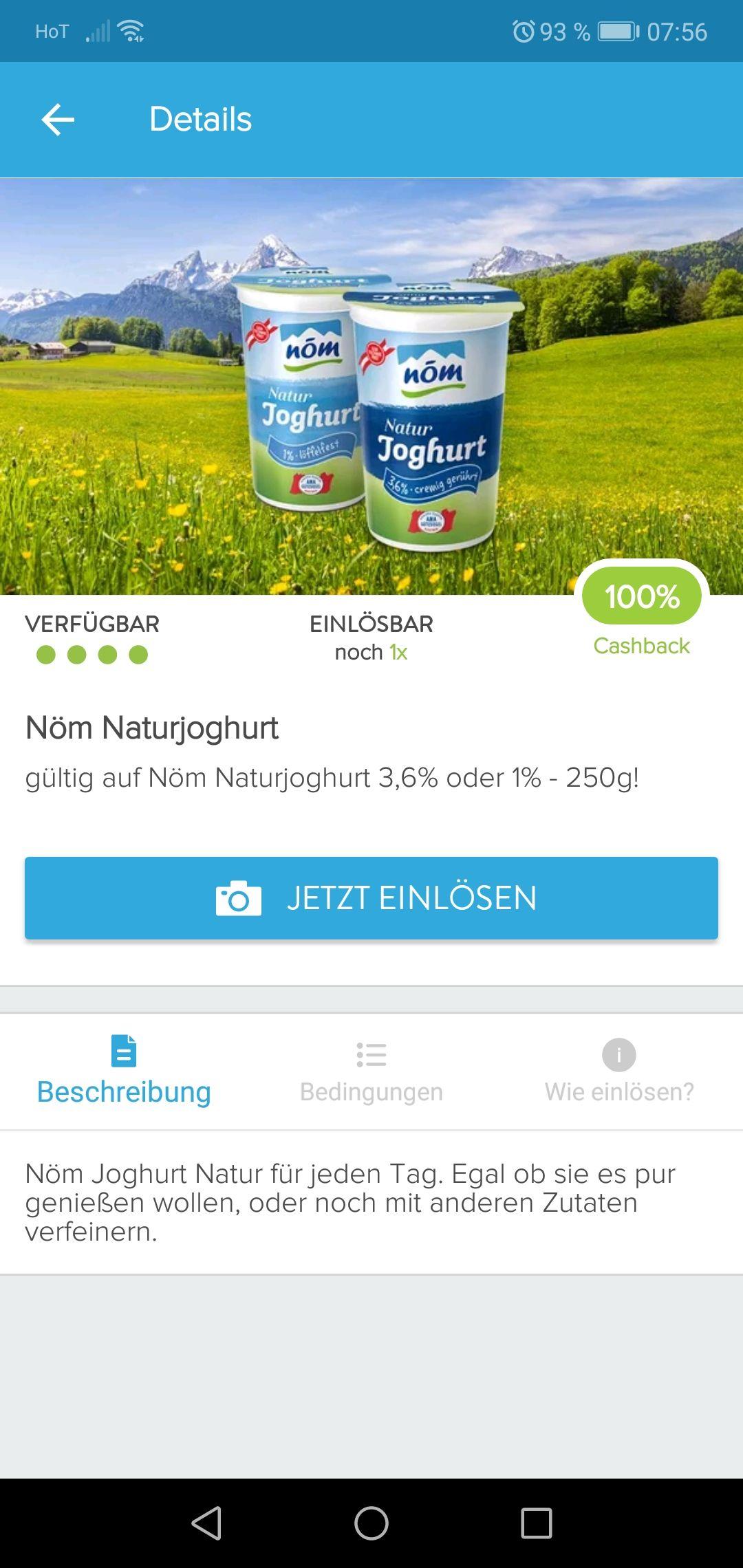 Marktguru Nöm Naturjoghurt gratis